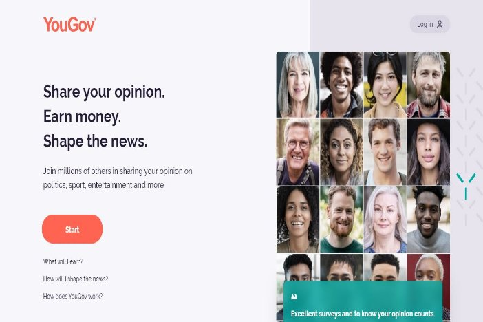 YouGov image - survey sites that pays through PayPal